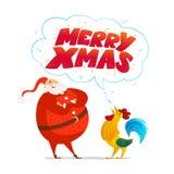 Vector Merry Christmas, Happy New year congratulation design. Royalty Free Stock Photos