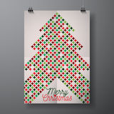 Vector Merry Christmas Holiday illustration with typographic design and abstract color texture pattern on clean background. Stock Images