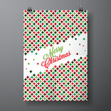 Vector Merry Christmas Holiday illustration with typographic design and abstract color texture pattern on clean background. Royalty Free Stock Photography