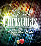 Vector Merry Christmas illustration with typograph Royalty Free Stock Photography