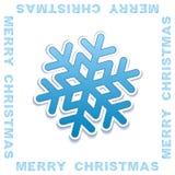 Vector Christmas invitation card. Vector Merry Christmas invitation card with ornamental lettering Royalty Free Stock Photos