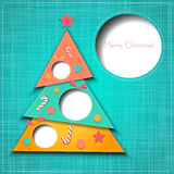 Vector Merry Christmas Paper greeting card Stock Photography