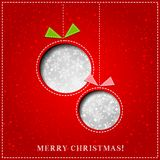 Vector Merry Christmas Paper greeting card Stock Photo