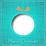 Vector Merry Christmas Paper greeting card Royalty Free Stock Image