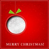 Vector Merry Christmas Paper greeting card Royalty Free Stock Photos