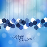 Vector Merry Christmas retro card design. Perfect Stock Photography