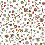 Vector Merry Christmas seamless pattern. Stock Photography