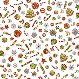 Vector Merry Christmas seamless pattern. Royalty Free Stock Photo