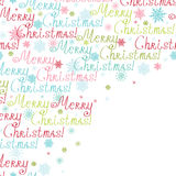 Vector merry christmas text frame corner pattern Royalty Free Stock Image