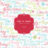 Vector merry christmas text frame seamless pattern Stock Images