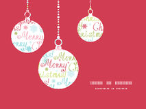 Vector merry christmas text holiday ornaments Royalty Free Stock Image