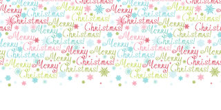 Vector merry christmas text horizontal border Stock Images