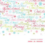 Vector merry christmas text horizontal frame Royalty Free Stock Photo