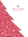 Vector merry christmas text pine tree silhouette Stock Image