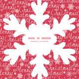 Vector merry christmas text snowflake silhouette Stock Images