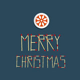 Vector Merry Christmas Title Made From Matches Royalty Free Stock Image