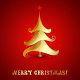 Vector Merry christmas tree background Royalty Free Stock Photo