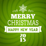 Vector merry christmas 2015 typography Royalty Free Stock Photo