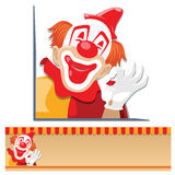 Vector merry clown shows okay hand sign. Royalty Free Stock Images