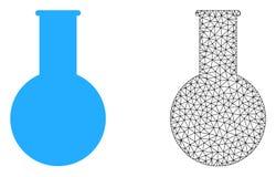 Vector Mesh Chemical Flask poligonal e icono plano ilustración del vector