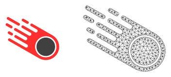 Vector Mesh Falling Meteorite poligonal e icono plano libre illustration