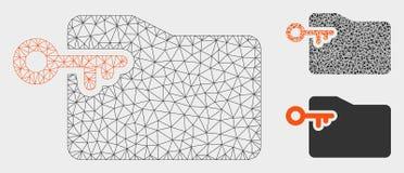 Vector Mesh Network Model de la tecla de acceso de la carpeta e icono del mosaico del triángulo libre illustration