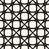 Vector mesh seamless pattern. Black and white geometric grid, lattice, net, lace. Mesh seamless pattern. Vector texture with delicate grid, net, lace, lattice stock illustration