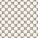 Vector mesh seamless pattern. Geometric texture with circles. Stock Image