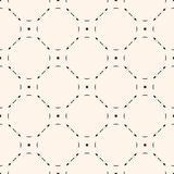 Vector mesh seamless pattern. Vector monochrome seamless pattern. Subtle background with simple geometric figures, thin lines. Illustration of mesh, lattice Royalty Free Stock Image
