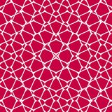 Vector mesh seamless pattern. Red and white background. Net, grid, lattice, fishnet. Vector mesh seamless pattern. Subtle abstract geometric ornament texture vector illustration