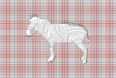 Vector Mesh and Zebra Royalty Free Stock Photography