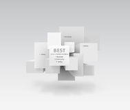 Vector message boxes. Vector background of message boxes Royalty Free Stock Photos