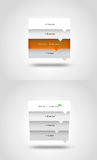 Vector message boxes. Vector inforgraphic of message boxes Stock Image