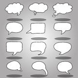 Vector message or chat icon or bubble Stock Images