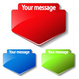 Vector message labels Royalty Free Stock Photos