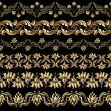 Vector met bloemenelementen wordt geplaatst dat Royalty-vrije Stock Fotografie