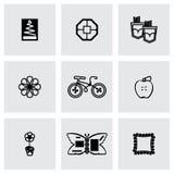 Vector Met de hand gemaakte pictogramreeks Royalty-vrije Stock Fotografie
