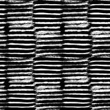 Vector met de hand geschilderd naadloos patroon met de slagen van de inktborstel Stock Fotografie