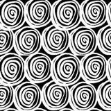 Vector met de hand geschilderd naadloos patroon met inktcirkels Stock Foto