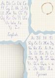 Vector met de hand geschreven manuscripten Royalty-vrije Stock Foto's