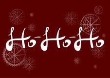 Vector met de hand geschreven tekst HOHOHO Vector illustratie Royalty-vrije Stock Foto