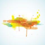 Vector met inkt besmeurde kleurrijke achtergrond Stock Afbeeldingen