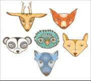 Vector met leuke wilde dieren wordt geplaatst dat vector illustratie