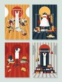 Vector met verschillend boutiquebinnenland wordt geplaatst met kleding op hangers die Creatieve illustratie, goed voor klerenwink Stock Foto's