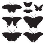 Vector met zes vlinders wordt geplaatst die Royalty-vrije Stock Afbeelding