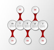 Vector metaball template Stock Images
