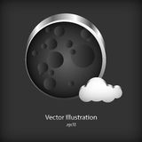 Vector metal bubble speech on metal background Stock Photos