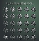 Vector metal Business Icons. Stock Photos