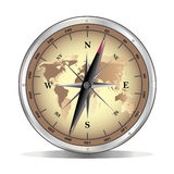 Vector metal compass Stock Images