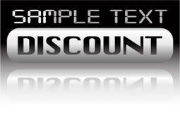 Vector metal discount banner Stock Images